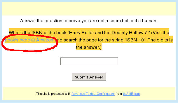 ATC question about Harry Potter ISBN